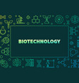 biotechnolgy colorful outline horizontal vector image