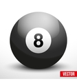 black ball sphere for billiards vector image vector image
