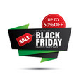 black friday sale green and red banner template vector image vector image