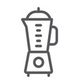 blender line icon kitchen and cooking mixer vector image vector image