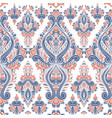 blue and orange stylized ornamental pattern vector image vector image