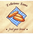 Bread On A Napkin 6 vector image vector image