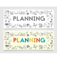 Business Planning Doodle Concept vector image vector image