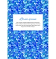card background with many little blue hearts and vector image vector image