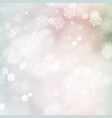 christmas card with glowing snowflakes and bokeh vector image vector image