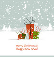 christmas gifts greeting card for your design vector image vector image