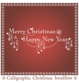 Christmas headlines vector image