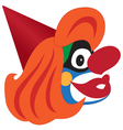 Clown head vector image vector image
