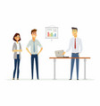 collegues argue in the office - modern cartoon vector image vector image