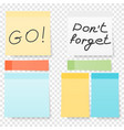 colored note stickers set collection different vector image vector image
