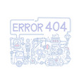 concept of error 404 colored background vector image