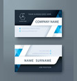 corporate business personal name card template vector image