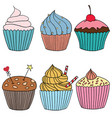 cupcakecolor vector image vector image
