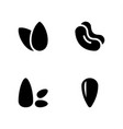 diet food glyph icons pack vector image