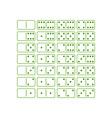 dominoes vector image vector image