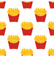 fast food french fries seamless pattern vector image