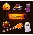 Halloween elements collection vector image