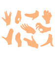 hands gestures set hands in vector image vector image