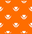 hands holding heart pattern seamless vector image vector image