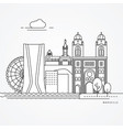 linear of marseille france vector image