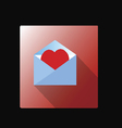 mail box with red heart vector image vector image
