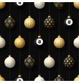 merry christmas billiard seamless pattern hang vector image vector image