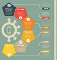 Part of the report with icons set infographic of vector image vector image