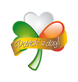 patricks day with clover vector image