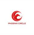 phoenix circle logo vector image