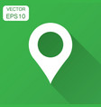 pin map icon in flat style gps navigation with vector image vector image