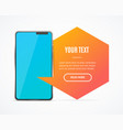 Realistic detailed 3d mobile phone banner card