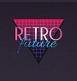 retro future label icon vector image