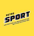 retro sport style font vector image vector image