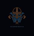 scandinavia viking design vector image vector image