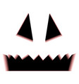 scary halloween pumpkin face isolated on white vector image