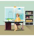 secretary in office vector image