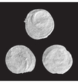 Set of round silver stains vector image vector image