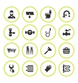 Set round icons of plumbing vector image vector image