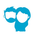 silhouette couple lover head with closed eyes and vector image vector image