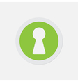 simple green icon - keyhole vector image