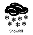 snowfall icon simple style vector image vector image