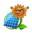 Solar energy panel and sun vector image vector image