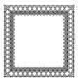 Stylish black frame vector image vector image