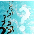 symbol of question mark in colorful background vector image
