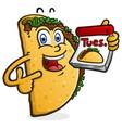 taco tuesday cartoon character vector image vector image