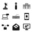 telecom icons set simple style vector image vector image
