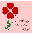 Valentines card as a four-leaf from the hearts vector image