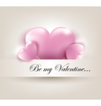 valentines day card with hearts vector image vector image