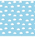 White clouds pattern vector image vector image