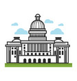 white house usa america travel landmarks and vector image vector image